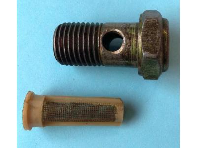 Болт пустотелый М14 с фильтр-сеткой (штуцер топливный) H HOWO (ХОВО) 90003962612 фото 1 Киров